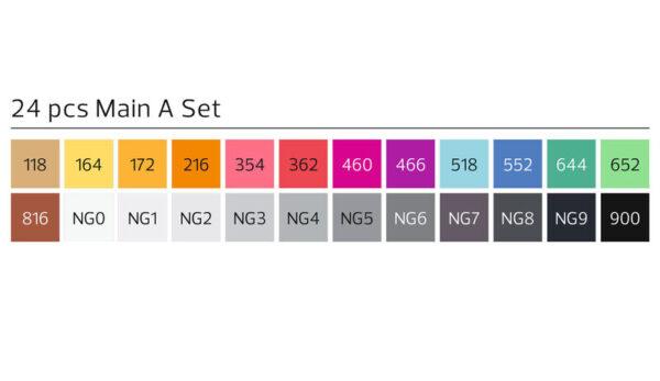 Stylefile markers 24 stuks