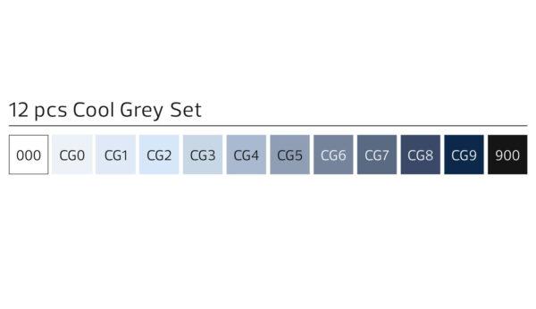 Stylefile 12 markers koel grijs