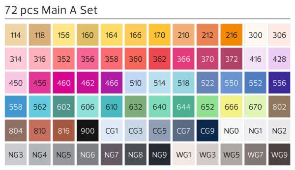 Stylefile markers 72 stuks