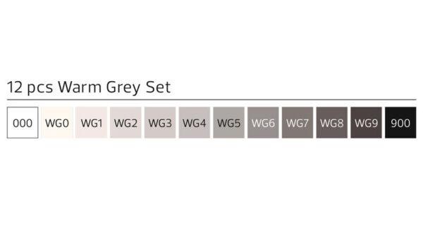 Stylefile 12 stuks warm grijs